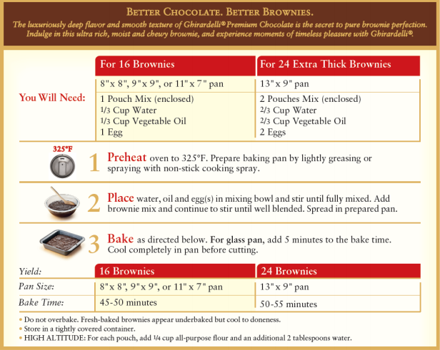 Ghirardelli Brownie Mix Cake Recipe